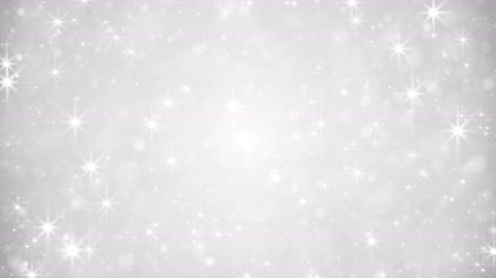 ezüst : glittering silver dust loopable festive background Stock mozgókép