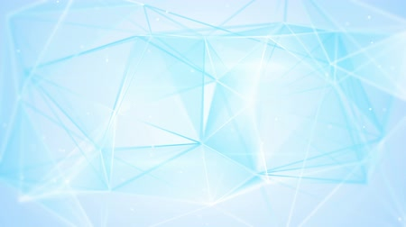aberration : aberrated blue triangles abstract geometrical background loop