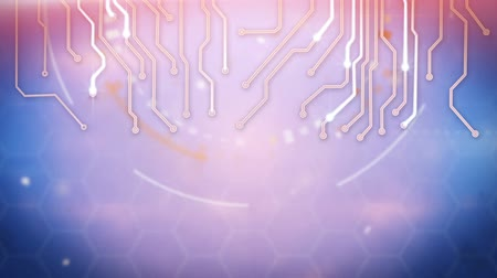 bordo : circuit board techno loop background Stock Footage