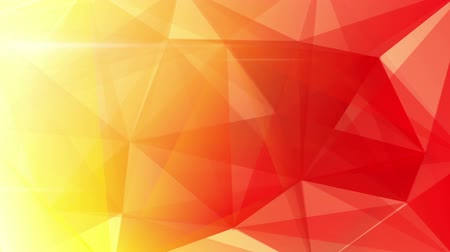 orange background : abstract triangle geometrical red background loop Stock Footage