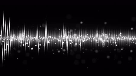 gray background : white and black audio waveform seamless loop 4k 4096x2304 Stock Footage