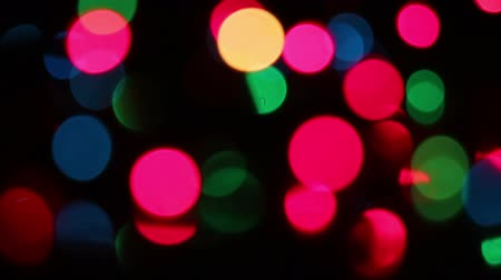 colorful christmas lights bokeh. seamless loop abstract motion background Stok Video