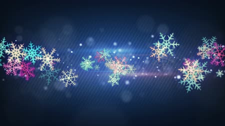 tempo de natal : colorful snowflakes. computer generated seamless loop christmas background