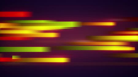 listras : orange stripes data transfer. computer generated seamless loop abstract motion background Stock Footage