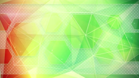 trójkąt : colorful triangles. computer generated seamless loop abstract geometrical motion background Wideo