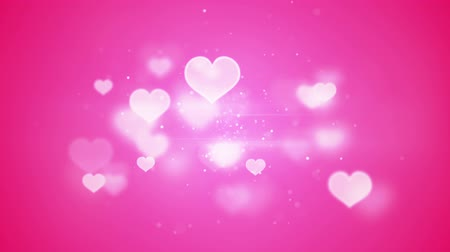 pink : pink heart shapes bokeh. computer generated loopable romatic background
