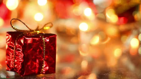 holidays : gift box holiday decoration close-up seamless loop Stock Footage