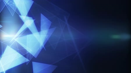 glowing triangles modern background loop