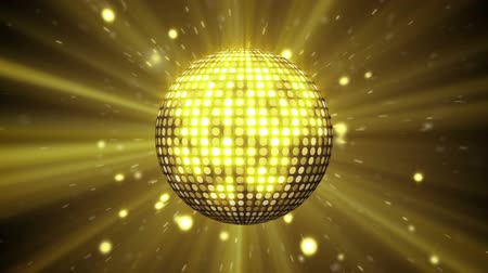 disko : yellow disco ball shining seamless loop
