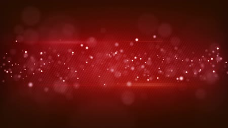 red background : bokeh circles on red striped. computer generated seamless loop abstract motion background Stock Footage