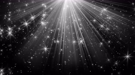gray background : light rays and stars on black. computer generated seamless loop abstract motion background. 4k 4096x2304 Stock Footage