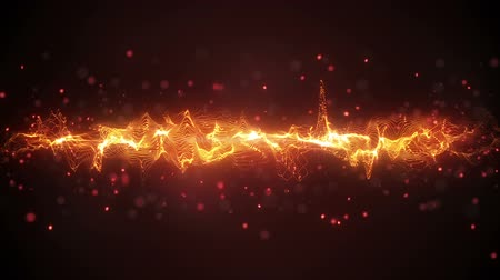 dijital : orange wave form. computer generated seamless loop abstract motion background