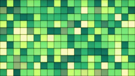 çini : green tiles glass mosaic. computer generated seamless loop abstract motion background. 4k 4096x2304
