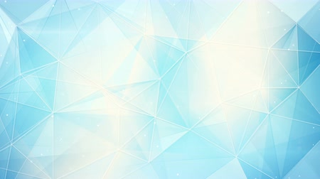 trójkąt : futuristic light blue triangles pattern. computer generated seamless loop abstract geometrical motion background. 4k 4096x2304