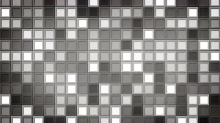 çini : shimmering gray squares. computer generated seamless loop abstract motion background. 4k 4096x2304