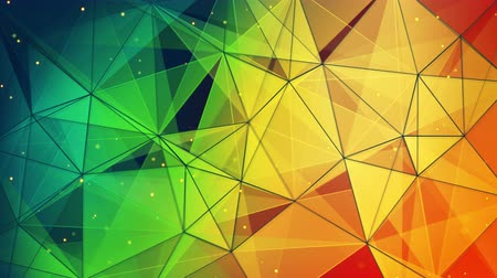 trójkąt : colorful triangles and lines pattern. computer generated seamless loop abstract geometric motion background. 4k 4096x2304