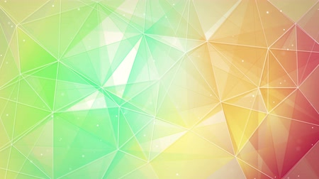 trójkąt : multicolor triangles and lines pattern. computer generated seamless loop abstract geometrical motion background. 4k 4096x2304 Wideo