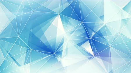 trójkąt : blue and white triangles web pattern. computer generated seamless loop abstract geometrical motion background. 4k 4096x2304
