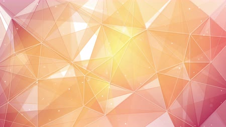 trójkąt : light orange triangles and lines pattern. computer generated seamless loop abstract geometrical motion background. 4k 4096x2304