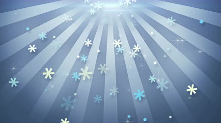 infantil : snowflake shapes falling in circular rays loopable animation 4k 4096x2304