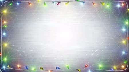ünnepies : christmas lights frame. computer generated seamless loop festive background. 4k 4096x2304 Stock mozgókép