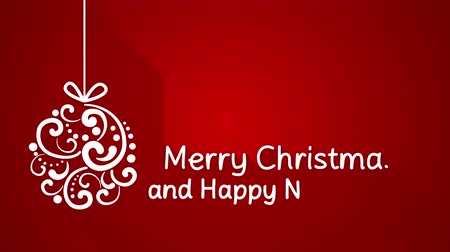 feliz natal : merry christmas and happy new year greeting. animation with long shadows 4k 4096x2304