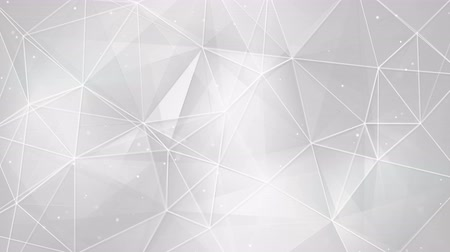 gray background : white triangles and lines. computer generated seamless loop abstract geometrical motion background. 4k 4096x2304 Stock Footage