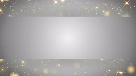 blank : blank banner and holiday particles loop 4k 4096x2304 Stock Footage