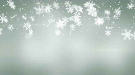 gray background : snowfall on gray seamless loop christmas background 4k 4096x2304