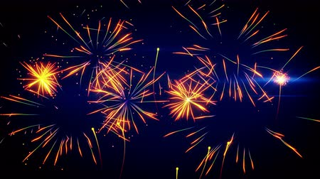 karnaval : stylized fireworks seamless loop animation 4k 4096x2304