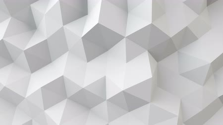 trójkąt : white polygonal geometric surface. computer generated seamless loop abstract motion background. 4k UHD 3840x2160