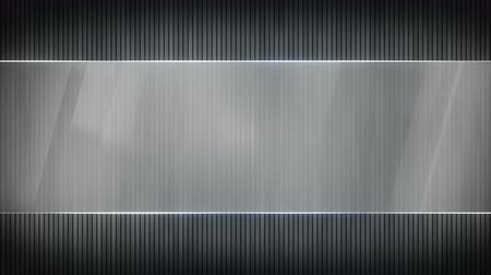 grey stripes and blank banner. Computer generated seamless loop abstract motion background. 4k 4096x2304