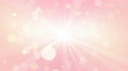 light rays delicate pink color. abstrac background seamless loop 4k 4096x2304 Stok Video