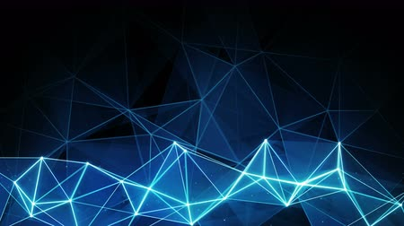 matris : glowing blue polygon background. Computer generated seamless loop abstract animation. 4k 4096x2304