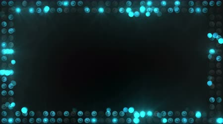 sel : frame of blue lighting bulbs. computer generated seamless loop abstract motion background. 4k 4096x2304