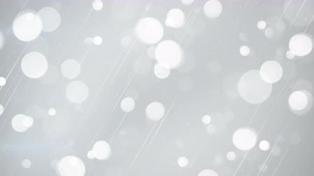 gray background : white bokeh lights. seamless loop abstract motion background. 4k 4096x2304 Stock Footage