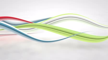 stroke : colorful curved 3D lines. Computer generated seamless loop abstract motion background Stock mozgókép