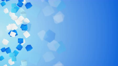 техно : blue and white 3D cubes. seamless loop abstract background. 4k 4096x2304