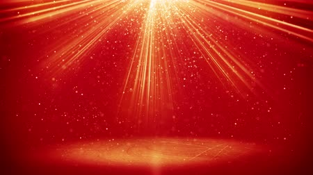 red background : red light beams and particles. computer generated seamless loop abstract motion background. 4k 4096x2304
