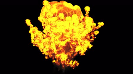 bomba : Fire explosion on black background. Slowmotion 4k UHD 3840x2160 Stock Footage