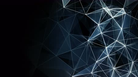 szablon : glowing blue network background. Computer generated seamless loop abstract animation. 4k 4096x2304