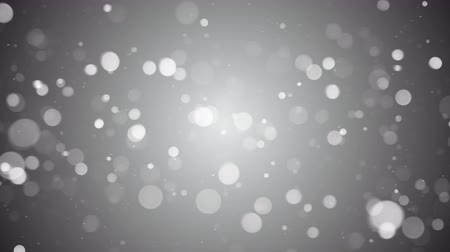 gray background : Camera flying around white bokeh on grey. Seamless loop animation. 4k (4096x2304)