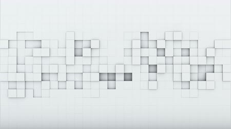 оказывать : White squares. 3D render seamless loop abstract background. 4k (4096x2304)