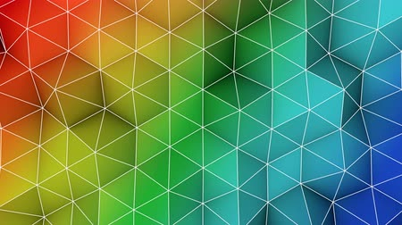 trójkąt : Colorful triangle polygons. Computer generated seamless loop geometric background. 4k UHD (3840x2160)