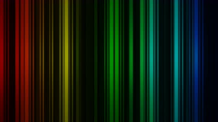 listras : Glowing colorful vertical lines rotate. Abstract 3D rendering background seamless loop. 4k UHD (3840x2160) Stock Footage