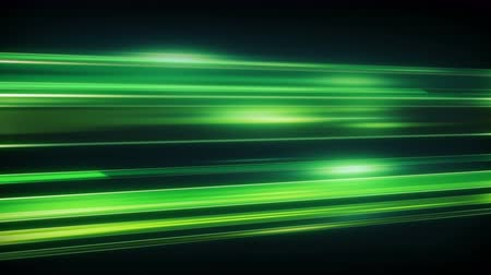 запачканный : Green light streaks with motion blur. Seamless loop animation. Computer generated abstract modern background 4k (4096x2304) Стоковые видеозаписи