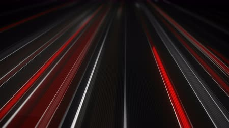 техно : White and red traffic light streaks with motion blur. Seamless loop animation. Computer generated abstract modern background 4k (4096x2304) Стоковые видеозаписи