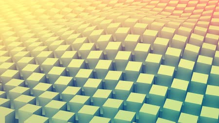 quadrado : Checkered 3D cubes surface waving. Abstract geometric seamless loop smooth animation 4k UHD (3840x2160)