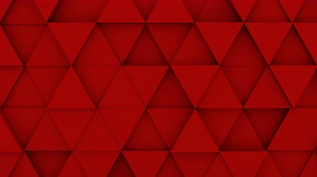 trójkąt : Red triangles extruding. Abstract geometric background. 3D render seamless loop smooth animation. 4k UHD (3840x2160)
