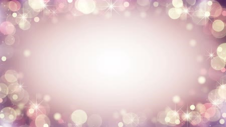 holidays : Gentle pink frame of bokeh lights and blinking stars. Abstract holiday background. Computer generated seamless loop animation 4k (4096x2304)